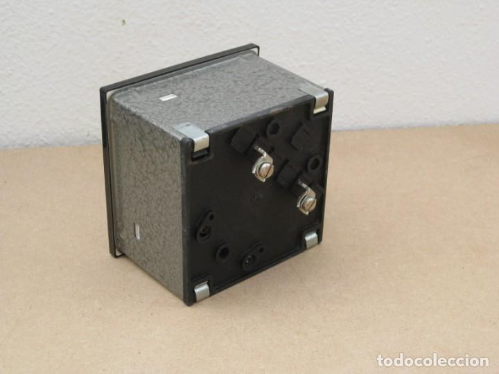 Antigüedades: Amperimetro empotrable analogico de la marca celsa. - Foto 5 - 201290232
