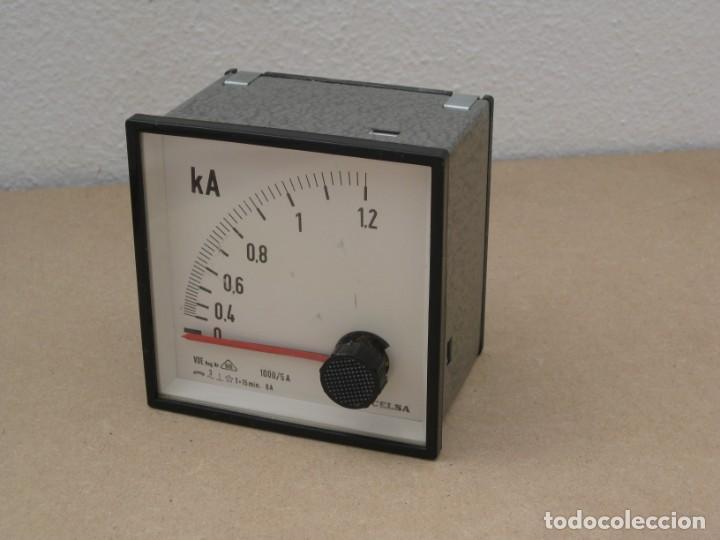 Antigüedades: Amperimetro empotrable analogico de la marca celsa. - Foto 6 - 201290232