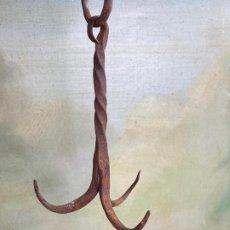 Antigüedades: ANTIGUO GANCHO DE POZO EN FORJA. Lote 201315117