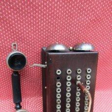 Teléfonos: ANTIGUA CENTRALITA DE MADERA DE CAOBA, PRINCIPIOS DEL SIGLO XX. (RARO).. Lote 201523095