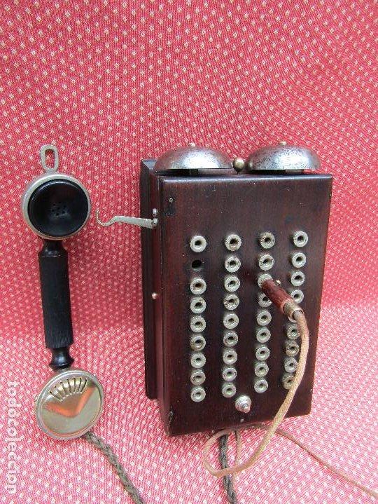 Teléfonos: ANTIGUA CENTRALITA DE MADERA DE CAOBA, PRINCIPIOS DEL SIGLO XX. (RARO). - Foto 10 - 201523095