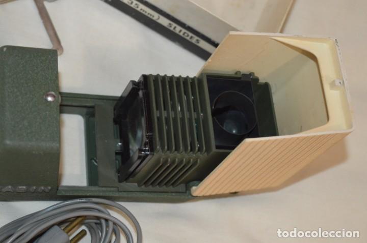 Antigüedades: CABIN - Proyector de diapositivas / 2 x 2 (35 mm.) - Buen estado / SIN LÁMPARA ¡Mira fotos/detalles! - Foto 4 - 201609093