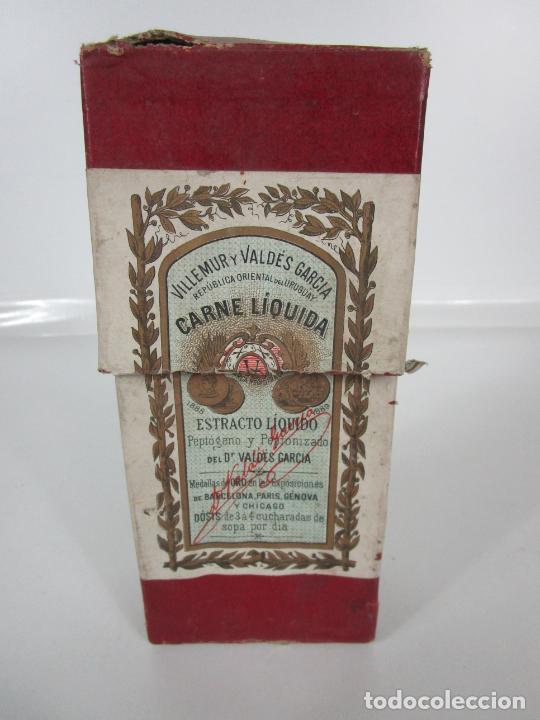 Antigüedades: Medicamento Tónico Nutritivo - Carne Liquida - Villemur y Valdés Garcia - Uruguay - Nuevo - 1896 - Foto 2 - 201644541