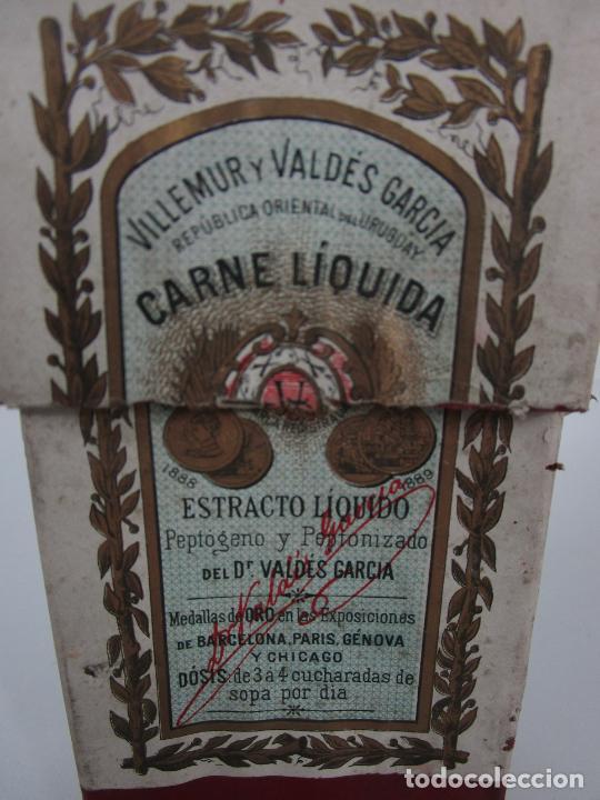 Antigüedades: Medicamento Tónico Nutritivo - Carne Liquida - Villemur y Valdés Garcia - Uruguay - Nuevo - 1896 - Foto 3 - 201644541