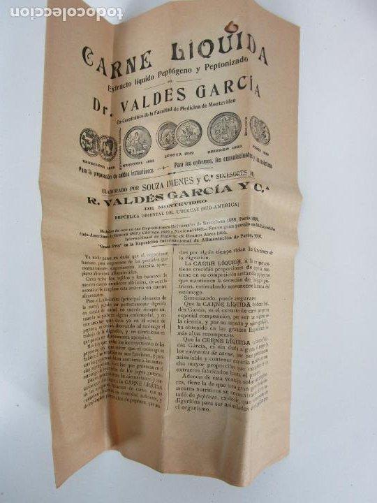Antigüedades: Medicamento Tónico Nutritivo - Carne Liquida - Villemur y Valdés Garcia - Uruguay - Nuevo - 1896 - Foto 4 - 201644541