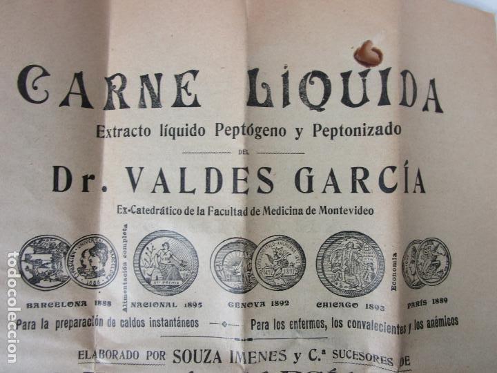 Antigüedades: Medicamento Tónico Nutritivo - Carne Liquida - Villemur y Valdés Garcia - Uruguay - Nuevo - 1896 - Foto 5 - 201644541