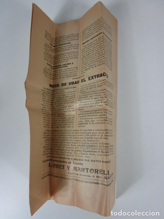 Antigüedades: Medicamento Tónico Nutritivo - Carne Liquida - Villemur y Valdés Garcia - Uruguay - Nuevo - 1896 - Foto 6 - 201644541