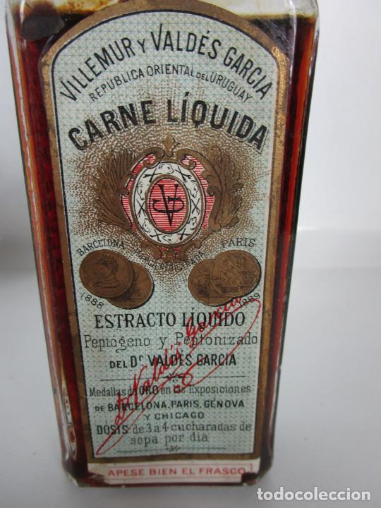 Antigüedades: Medicamento Tónico Nutritivo - Carne Liquida - Villemur y Valdés Garcia - Uruguay - Nuevo - 1896 - Foto 11 - 201644541