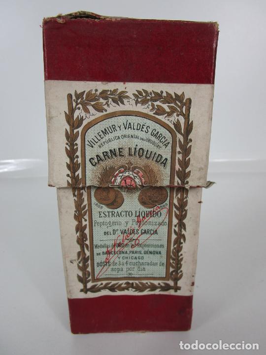 Antigüedades: Medicamento Tónico Nutritivo - Carne Liquida - Villemur y Valdés Garcia - Uruguay - Nuevo - 1896 - Foto 18 - 201644541