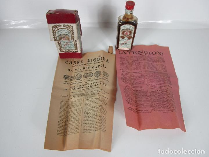 MEDICAMENTO TÓNICO NUTRITIVO - CARNE LIQUIDA - VILLEMUR Y VALDÉS GARCIA - URUGUAY - NUEVO - 1896 (Antigüedades - Técnicas - Herramientas Profesionales - Medicina)