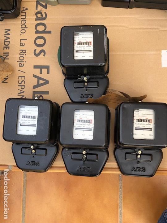 LOTE DE 4 CONTADORES DE LA LUZ (Antigüedades - Técnicas - Herramientas Profesionales - Electricidad)