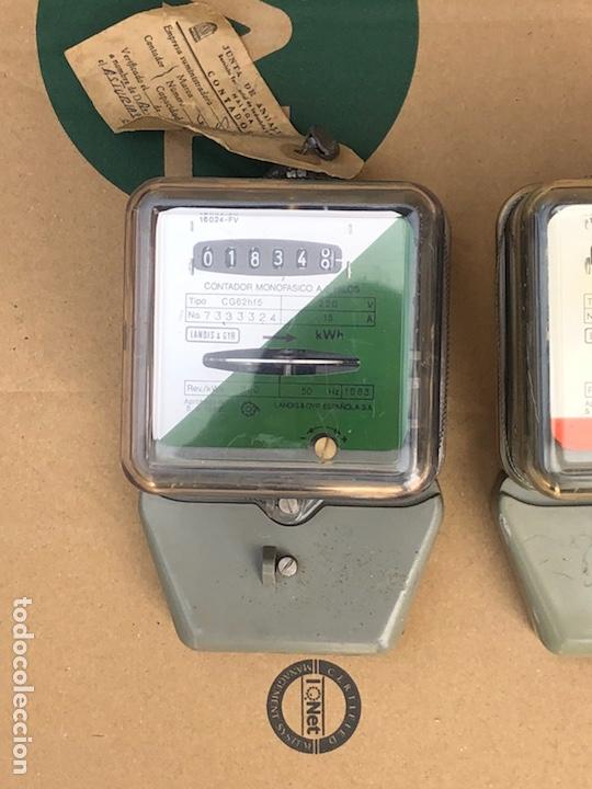 Antigüedades: Lote de 2 contadores de luz - Foto 2 - 201646445