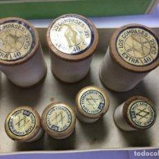 Antigüedades: LOTE DE BOBINAS DE HILOS PARA BORDAR A MAQUINA BLANCO. Lote 201742321