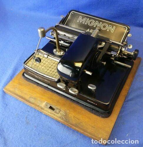 MÁQUINA DE ESCRIBIR MIGNON MODELO 4 FUNCIONA DE LOS AÑOS 20 (Antigüedades - Técnicas - Máquinas de Escribir Antiguas - Mignon)