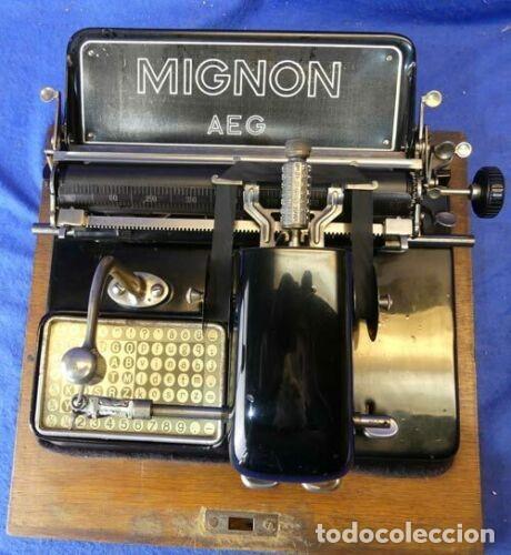 Antigüedades: MÁQUINA DE ESCRIBIR MIGNON MODELO 4 FUNCIONA DE LOS AÑOS 20 - Foto 3 - 201750315