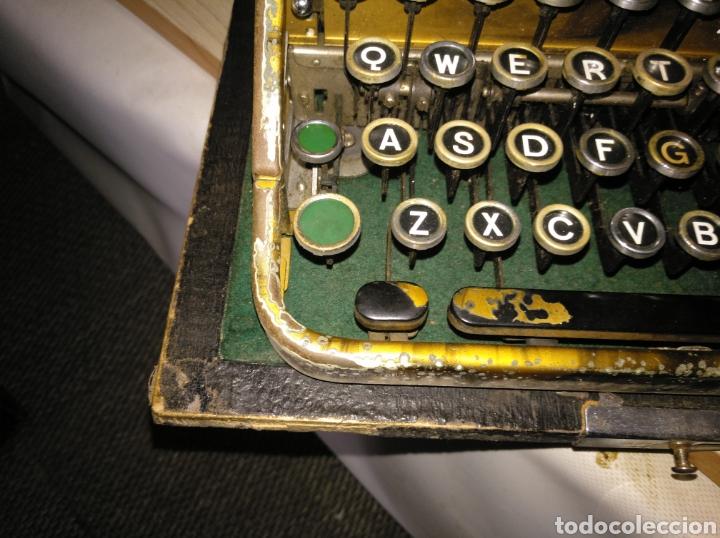 Antigüedades: Maquina de escribir Continental lujo color carey. - Foto 3 - 201798832