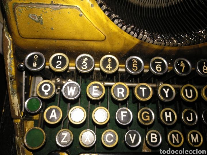 Antigüedades: Maquina de escribir Continental lujo color carey. - Foto 4 - 201798832
