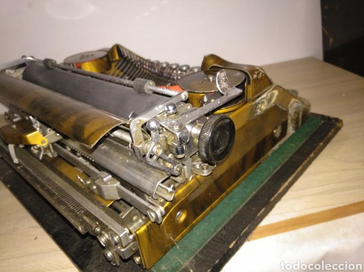 Antigüedades: Maquina de escribir Continental lujo color carey. - Foto 5 - 201798832