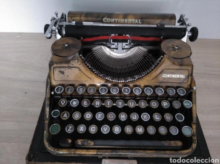 Antigüedades: Maquina de escribir Continental lujo color carey. - Foto 6 - 201798832