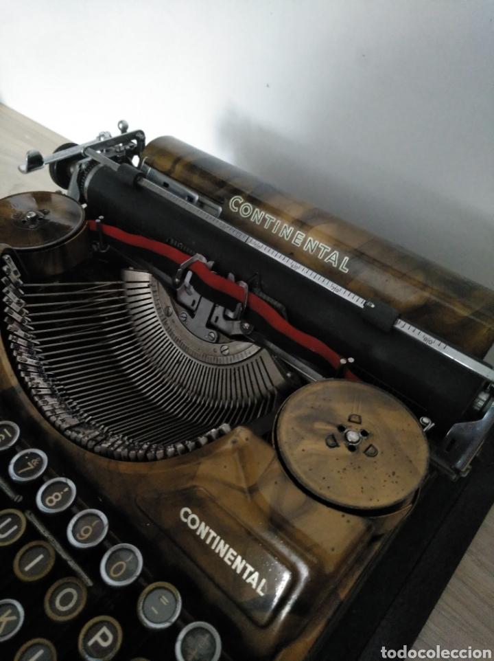 Antigüedades: Maquina de escribir Continental lujo color carey. - Foto 7 - 201798832