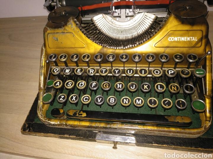 Antigüedades: Maquina de escribir Continental lujo color carey. - Foto 9 - 201798832