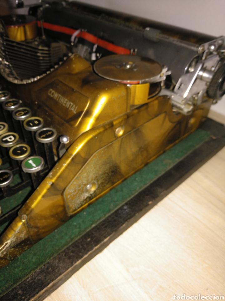 Antigüedades: Maquina de escribir Continental lujo color carey. - Foto 10 - 201798832