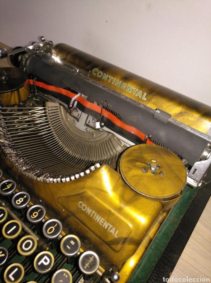 MAQUINA DE ESCRIBIR CONTINENTAL LUJO COLOR CAREY. (Antigüedades - Técnicas - Máquinas de Escribir Antiguas - Continental)