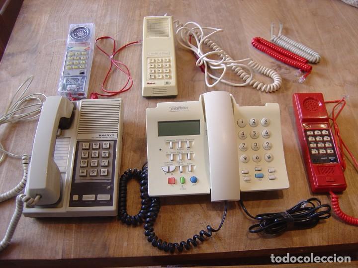 LOTE: CINCO TELÉFONOS ANTIGUOS FUNCIONANDO. (Antigüedades - Técnicas - Teléfonos Antiguos)