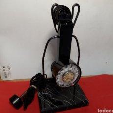Teléfonos: ANTIGUO TELEFONO CON SOPORTE, PIE DE MARMOL. Lote 202099306
