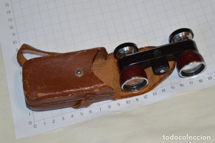 VINTAGE - PEQUEÑOS GEMELOS / PRISMÁTICOS OPERA O TEATRO, CON SU FUNDA - MADE IN JAPAN ¡MIRA FOTOS! (Antigüedades - Técnicas - Instrumentos Ópticos - Binoculares Antiguos)