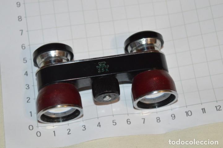 Antigüedades: Vintage - Pequeños gemelos / prismáticos opera o teatro, con su funda - Made In JAPAN ¡Mira fotos! - Foto 2 - 202274285