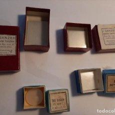Antigüedades: FINOS CRISTALES PARA PREPARACIONES MICROSCÓPICAS. Lote 202355545