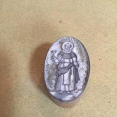 Antigüedades: (M) IMPRENTA - ANTIGUO TAMPON TALLADO DE BOJ PARA IMPRIMIR - SANTO -S.XVIII -XIX . Lote 202430541