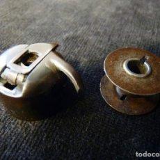 Antigüedades: ANTIGUA CANILLA COMPLETA PARA MÁQUINA DE COSER. DIÁMETRO 2,25 CM. (2). Lote 202550277