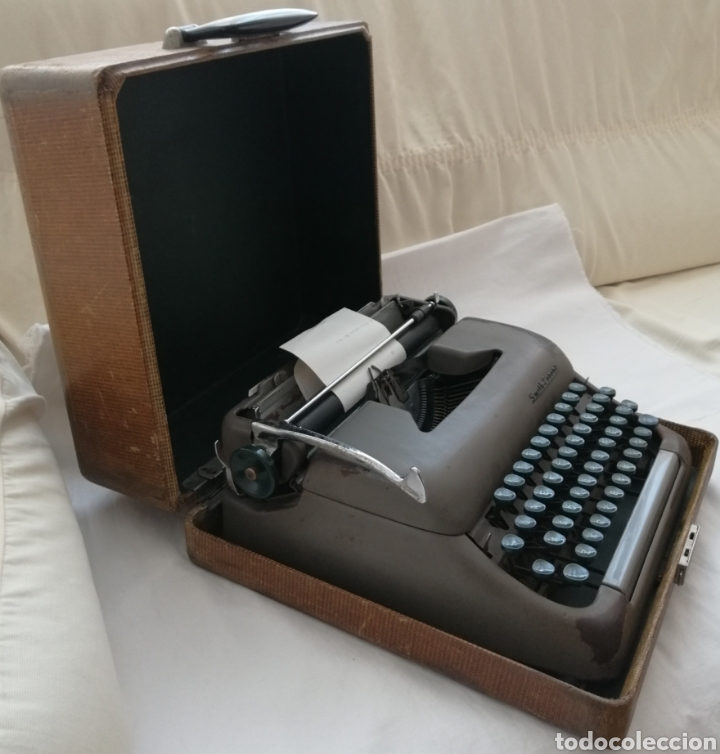 Antigüedades: Antigua Maquina de escribir Smith Corona . - Foto 3 - 202583363