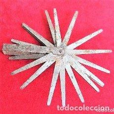 Antigüedades: GALGAS 20 UNIDADES MARCA TARSA SELLADA CON METRO EN LA BASE. Lote 165240498
