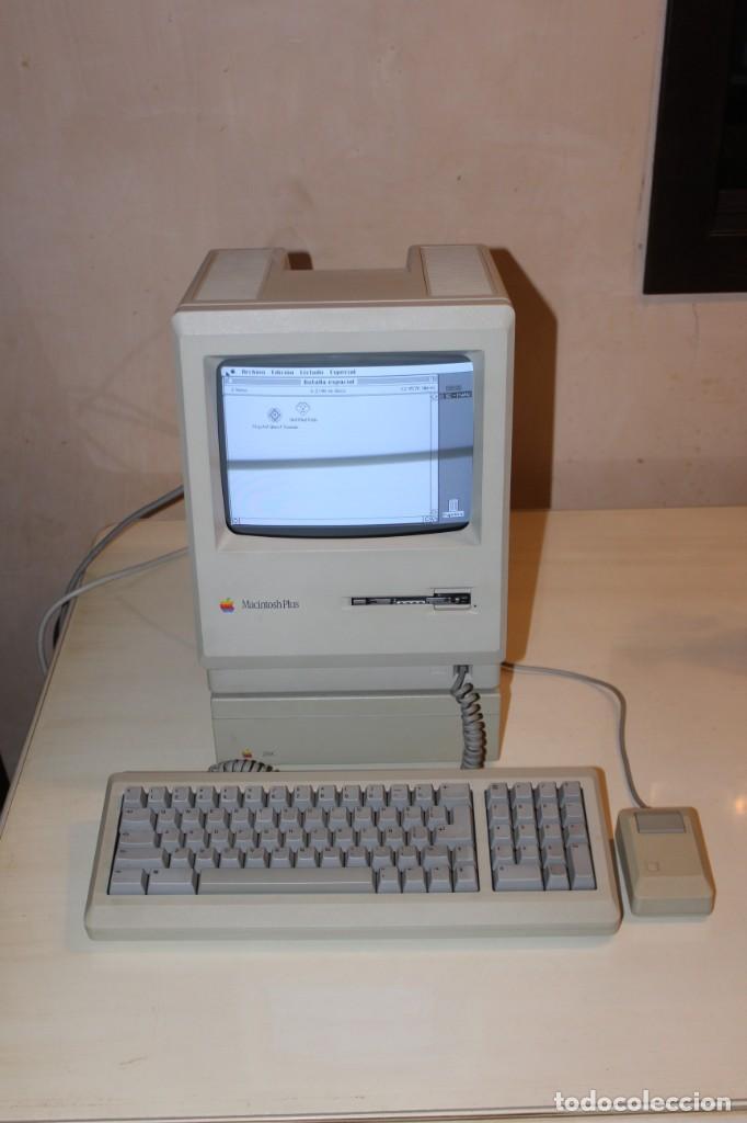 ORDENADOR MACINTOSH PLUS FUNCIONANDO OK UNICO (Antigüedades - Técnicas - Ordenadores hasta 16 bits (anteriores a 1982))