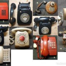 Teléfonos: LOTE DE 10 TELEFONOS DE DIFERENTES EPOCAS, PARA REPARACIÓN O REPUESTOS. Lote 202735521