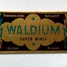Antigüedades: HOJA DE AFEITAR ANTIGUA,WALDIUM-SUPER MINCE,SIN USAR.. Lote 243141200