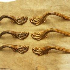 Antigüedades: BONITO LOTE TIRADORES BRONCE TIPOLOGIA ART NOUVEAU. Lote 202748785