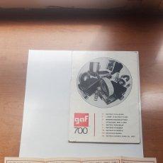 Antigüedades: LIBRO DE INSTRUCCIONES GAF 700 Y PUBLICIDAD GAF. Lote 202758075