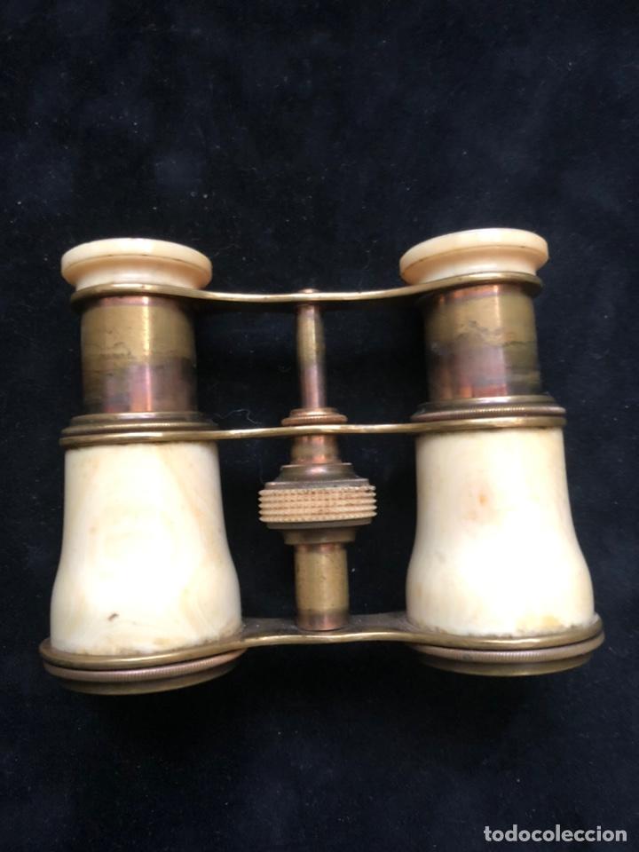 BINOCULARES OPERA-MARFIL. (Antigüedades - Técnicas - Instrumentos Ópticos - Binoculares Antiguos)