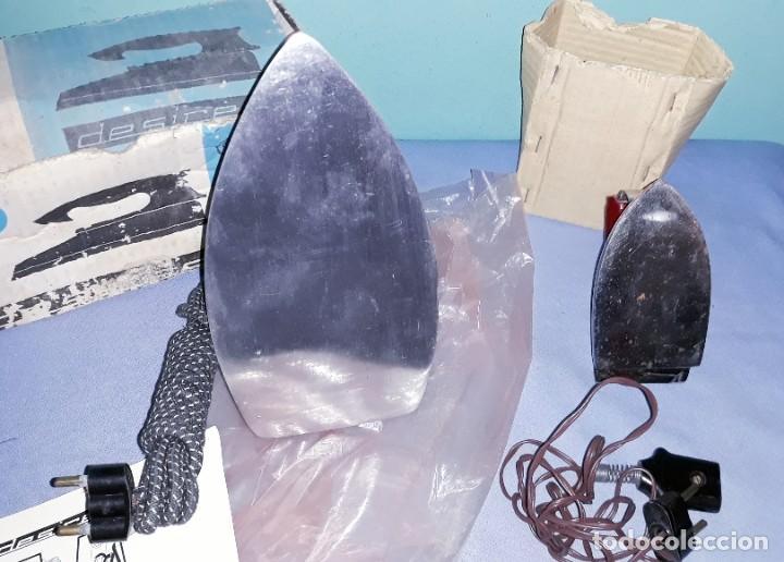 Antigüedades: ANTIGUAS PLANCHAS ELECTRICAS EN MUY BUEN ESTADO LA DESIREE NUEVA - Foto 4 - 202817596
