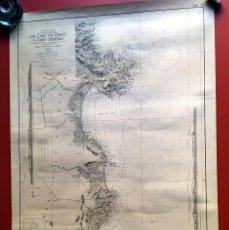Antigüedades: CARTA NÁUTICA - DE NAVEGACIÓN - DE CABO DE TOSSA A CABO DE CERVERA 100X65CM. Lote 202842860