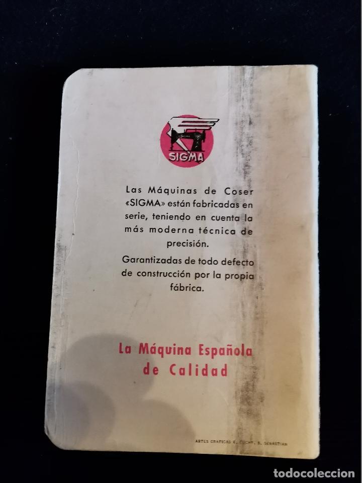 Antigüedades: LIBRO DE INSTRUCCIONES Y PIEZAS CATALOGADAS DE LA MÁQUINAS DE COSER SIGMA - Foto 2 - 202898160