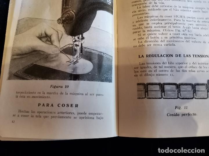 Antigüedades: LIBRO DE INSTRUCCIONES Y PIEZAS CATALOGADAS DE LA MÁQUINAS DE COSER SIGMA - Foto 3 - 202898160
