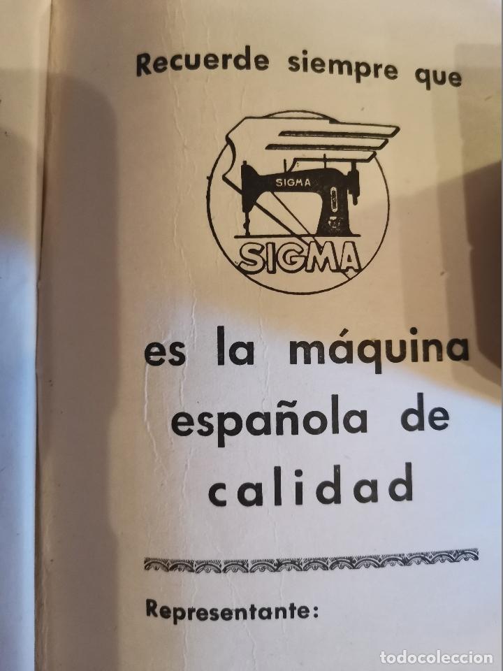 Antigüedades: LIBRO DE INSTRUCCIONES Y PIEZAS CATALOGADAS DE LA MÁQUINAS DE COSER SIGMA - Foto 5 - 202898160
