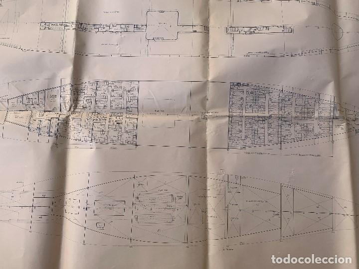 Antigüedades: plano barco ferry embarcacion naviera transmediterranea cockerill ougree car ferry 89x147cms - Foto 5 - 216746476