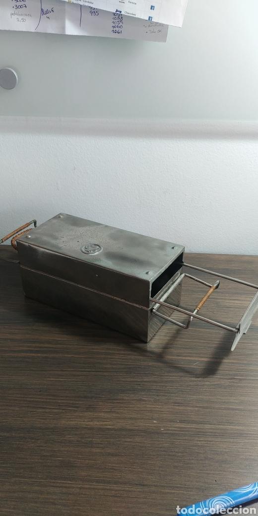 Antigüedades: Plancha antigua plegable portatil - Foto 2 - 202953128