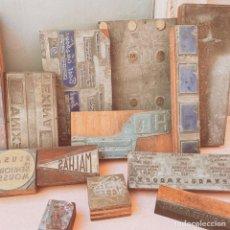 Antigüedades: LOTE DE GRANDES PLANCHAS DE IMPRENTA ANTIQUE UNIQUE. Lote 162893550